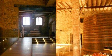 Detall de l'antic celler dels Peyra, actual centre de recepció per l'enoturisme.
