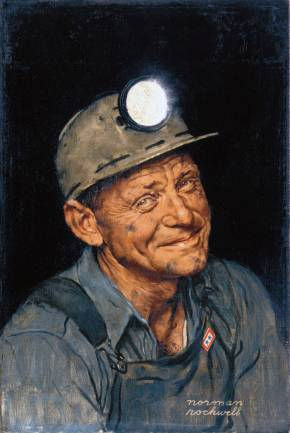 Norman-Rockwell-Mine-Americas-Coal-Portrait-of-a-Coal-Miner-1943